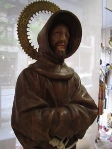 """FRANCISCO """"EL POBRE"""" EN TALLA DE MADERA 115CM ENCERADO. OBRA REALIZADA PARA LOS RELIGIOSOS FRANCISCANOS"""
