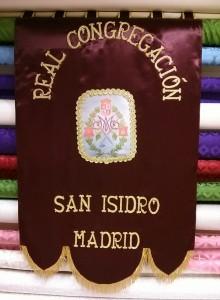 ESTANDARTE RELA ONGREGACION SAN ISIDRO MADRID
